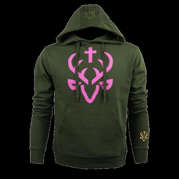 "Jagdstolz Girlie Hoodie ""Logo Pink"""
