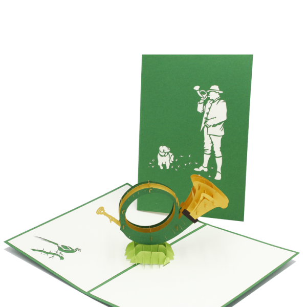 """Pop-Up Karte """"Jagdhorn"""""""