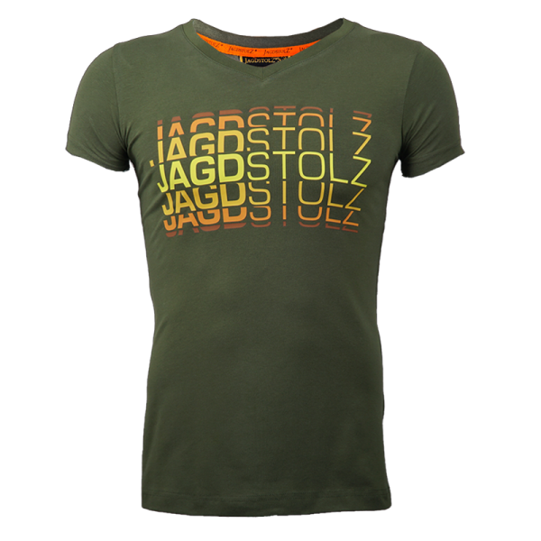 "Jagdstolz Girlie T-Shirt ""Logo 80s farbig"""