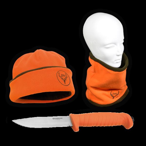 DJV-Drückjagd-Set 1 (Mütze, Nackenwärmer, Messer)