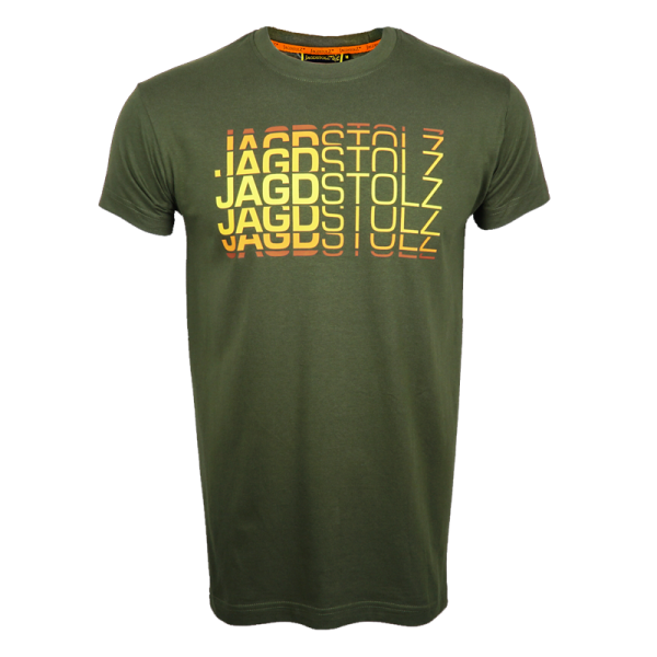 """Jagdstolz T-Shirt """"Logo 80s farbig"""""""