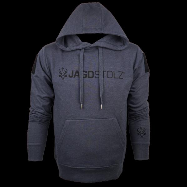 """Jagdstolz Hoodie Grau """"Logo Schwarz 21"""""""