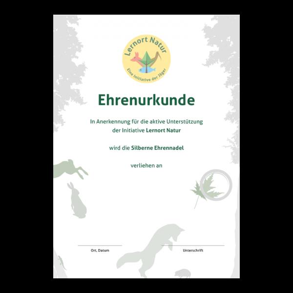 Lernort Natur-Urkunde Silber Anerkennung