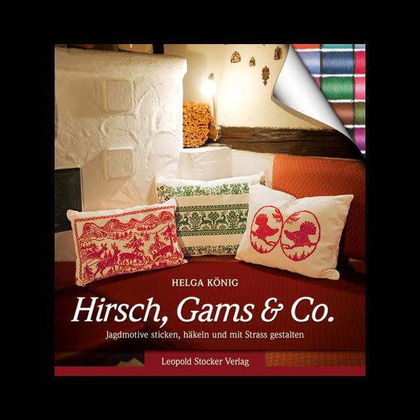 """Buch """"Hirsch, Gams & Co – Jagdmotive sticken, häkeln und mit Strass gestalten"""""""