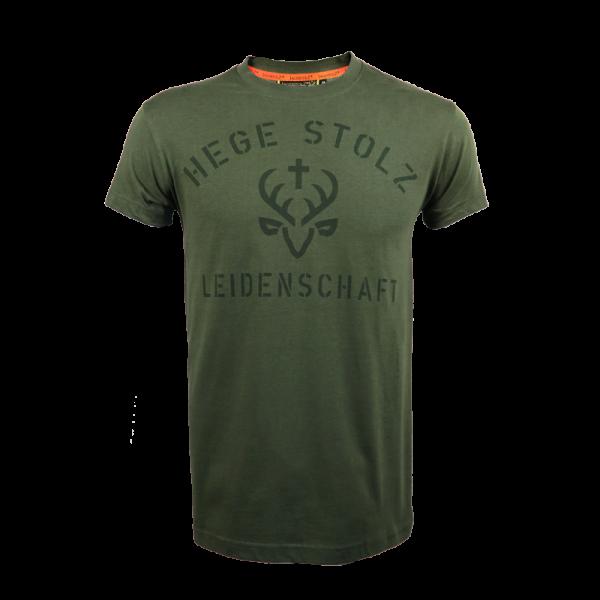 """Jagdstolz T-Shirt """"Hege, Stolz, Leidenschaft"""""""